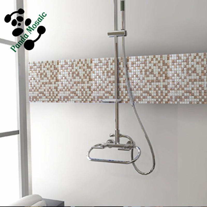 Mb sms07 decoratieve natuursteen mix kristal glasmoza ek tegel wandtegel badkamer douche moza ek - Mozaiek douche ...