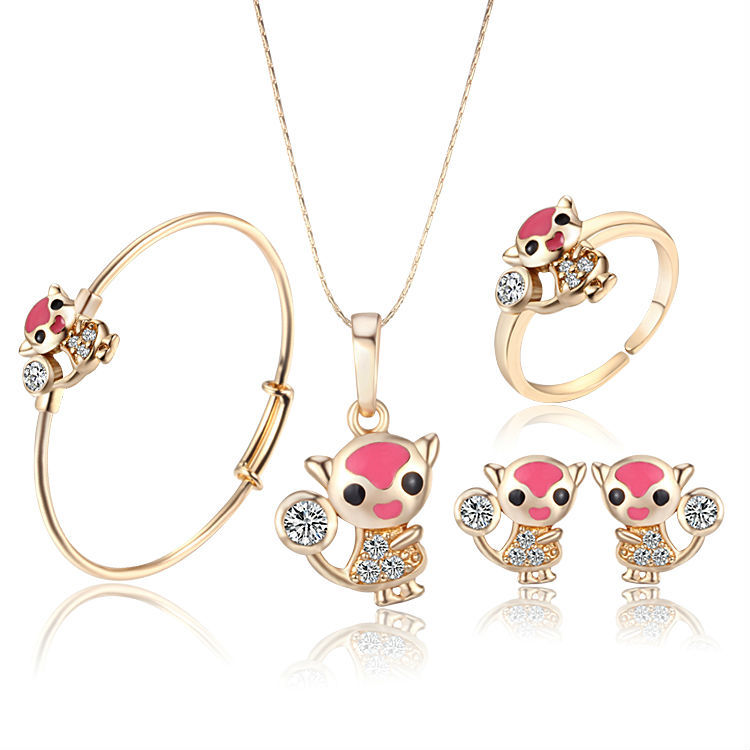 Fashion Jewelry Jewelry Sets New Arrival Lovely Fox 18K Gold Plated