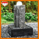 Black stone natural granite based water feature and crystal ball small outdoor fountain