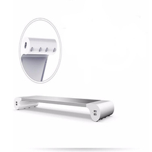 Monitor Stand With USB Mobile Phone Charger Rechargeable Notebook Stand Space Aluminum Alloy Laptop Stand