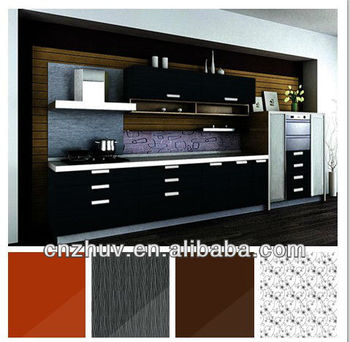 High Gloss Black Acrylic Kitchen Unit Doors
