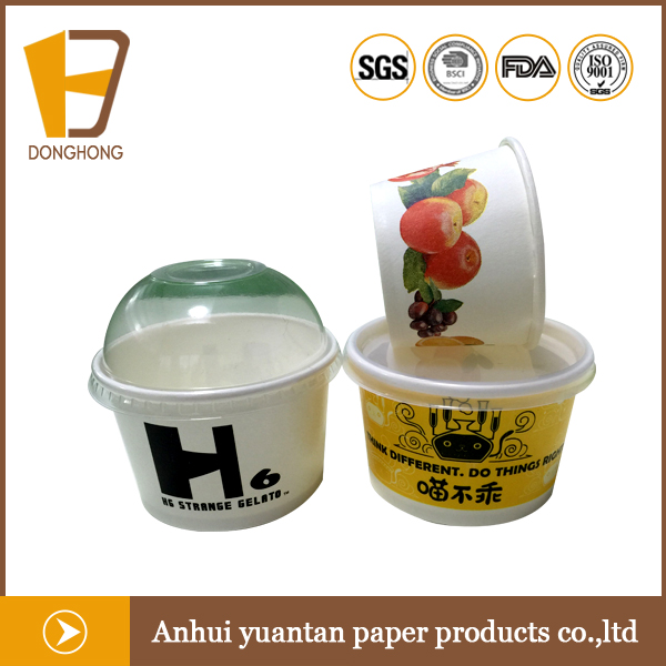 Personalized OEM logo printing ice cream paper cup