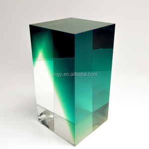 acrylic lucite block customized white pmma plexiglass colored square acrylic logo blocks with printing