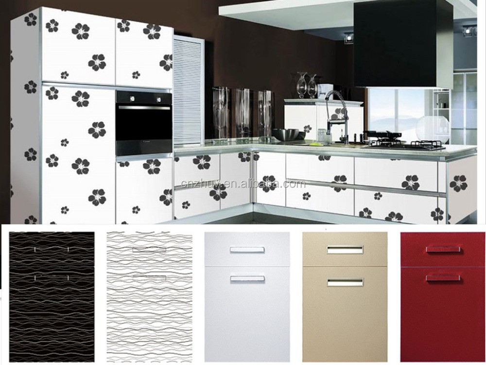 High gloss pvc kitchen cabinet door cheap buy pvc for Kitchen cabinets 700mm