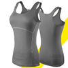 Quick Dry Lady Sports Fitness T-shoulder Tight Yoga Vest