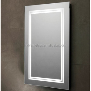 Bathroom Design Anti Fog Glass Wall Mounted Frameless Led Bathroom Mirror Light