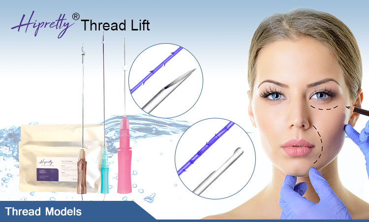 Cog 4D W Blunt 19G 100mm Polidioxanona Fio De Sutura Cannula Cog Barbed Thread 4D Lift Mono Blunt L Needle Hilos Pdo