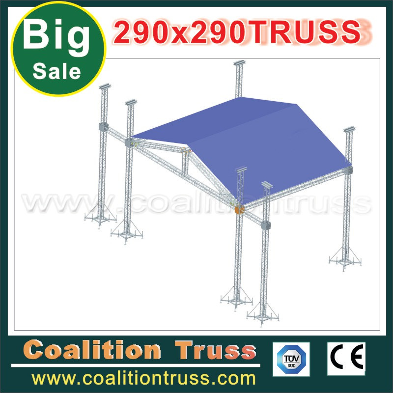 On sale aluminum stage lighting truss roof truss system for Truss roof system
