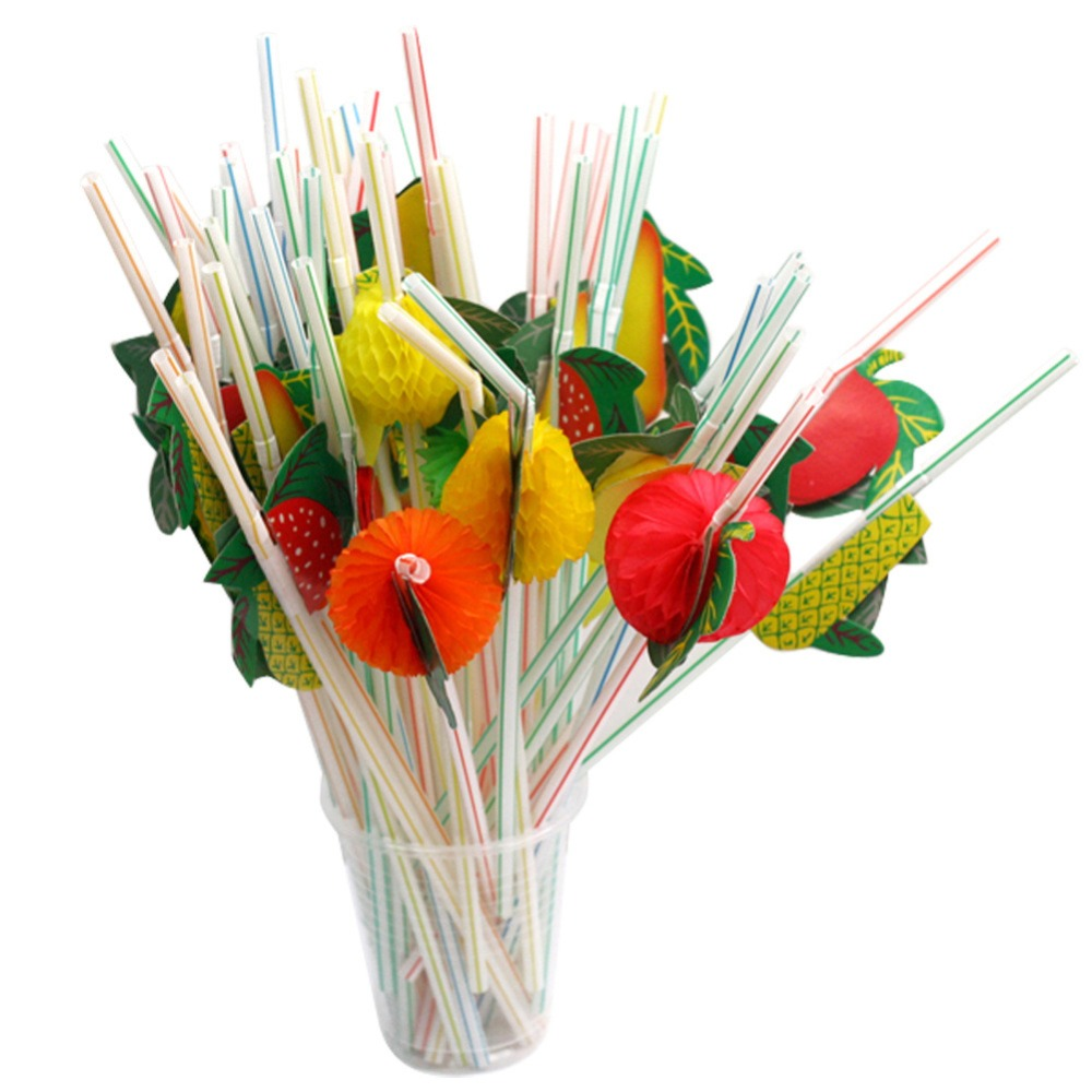 2017 Warehouse Artistic straws/fruit pulps disposable straws/plastic straws