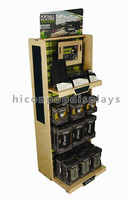 Merchandising Lcd Advertising 4-Layer China Made Free Standing Wooden Monitor Camera Display Stand