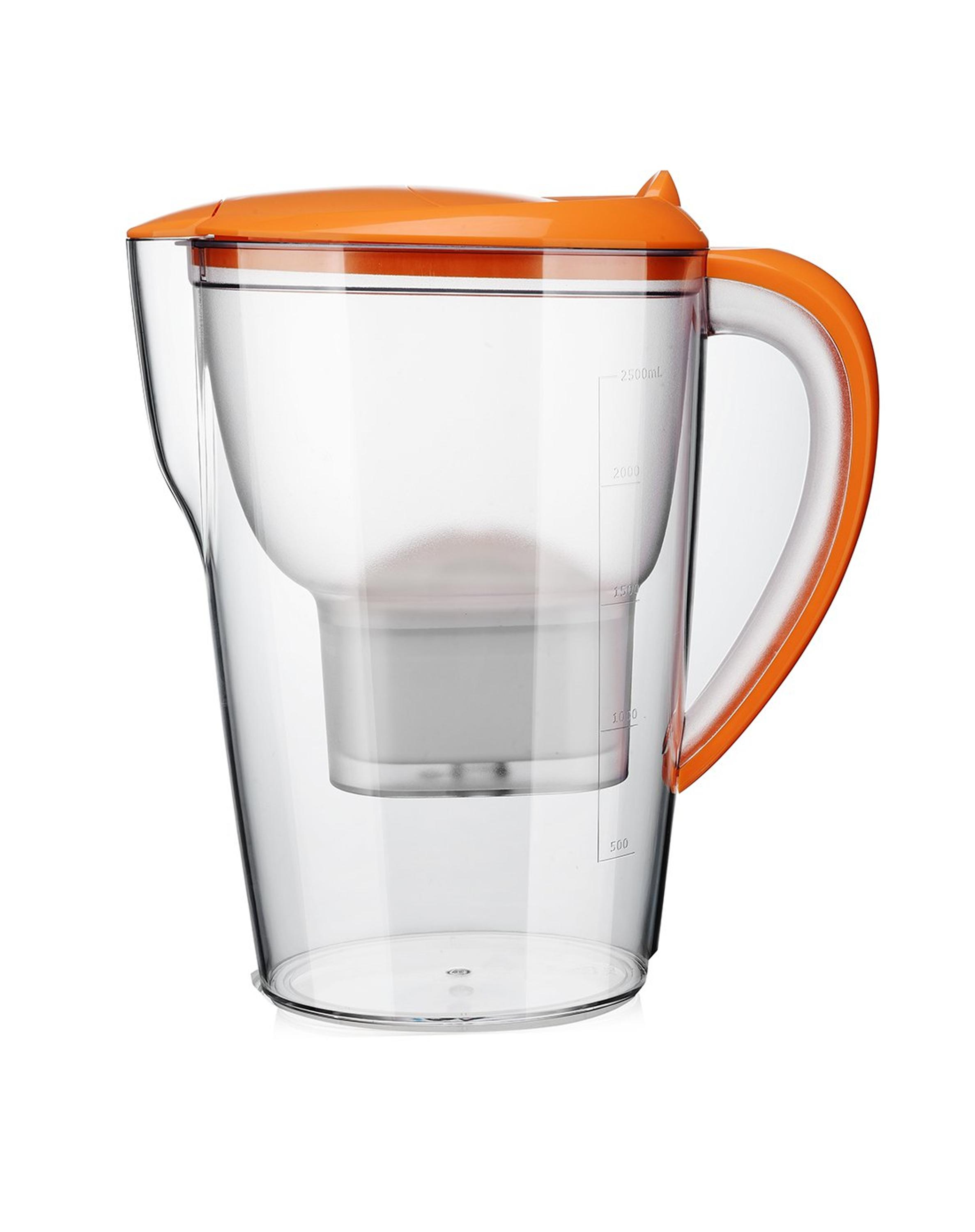 2 5l Capacity Water Filter Pitcher With Coco Activated Carbon