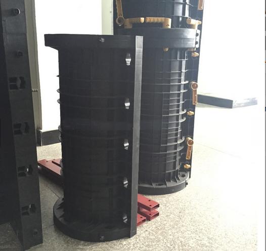Plastic round column formwork