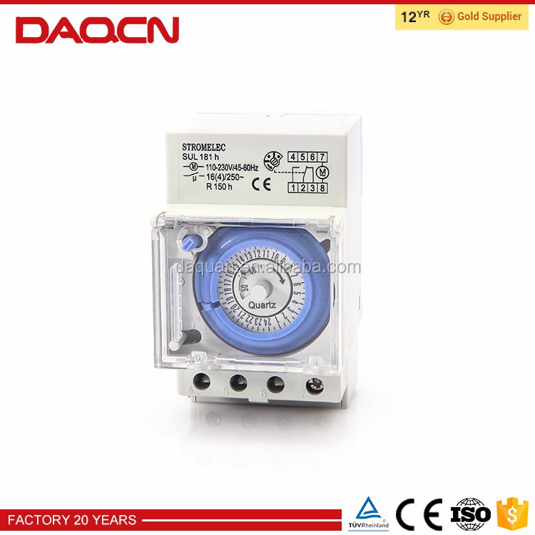 High quality automatic analog clock with timer
