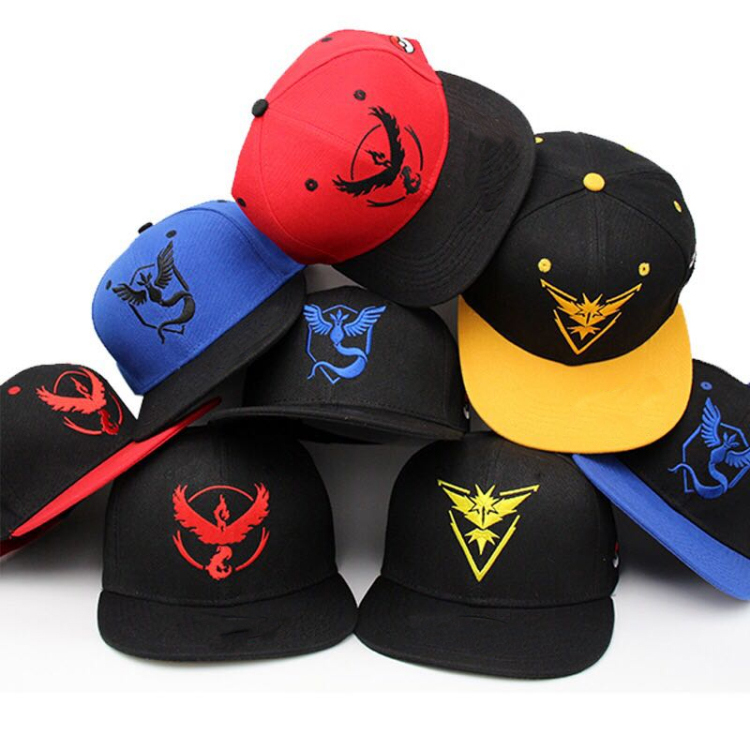 Wholesale popular game pokemon go cap,canvas pokemon go hat
