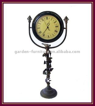 Craft Antique European Wrought Iron Grandfather Floor Clock