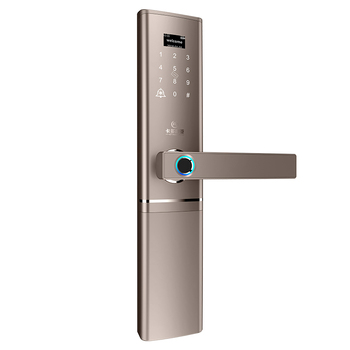 High Security Fingerprint Keypad Smart Door Lock unlock with Code, Card, Fingerprint ,handle and key