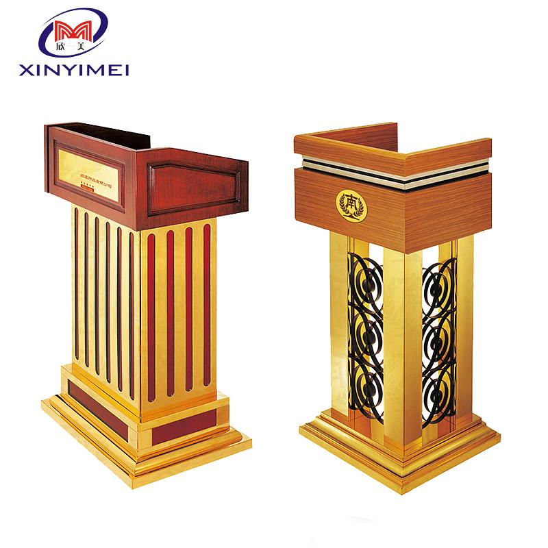 Modern Wooden Table Speaker Stands