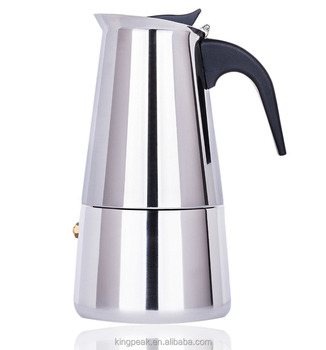 2019 Best Selling Stainless steel Stove Top Espresso Coffee Maker /Stainless Steel 6 cup Moka Pot/Espresso Coffee Maker