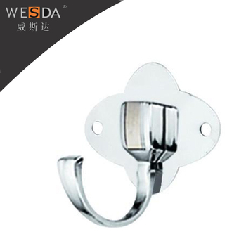 Wesda Stainless Steel Wall Hanging Clothes Hooks Reusable Hook Bathroom Adjule