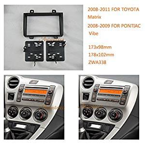 Autostereo 11-338 Car Radio fascia for TOYOTA Matrix 2008-2011 PONTIAC Vibe 2008-2009 Car Radio Installation Frame for TOYOTA Matrix Stereo Fascia Dash CD Trim Installation Kit
