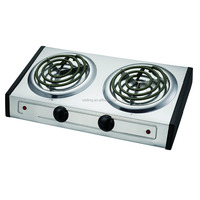Hot Plate Cooking Plate Electric Double Burner Coil Spiral Tubes Hotplate Electric Stove