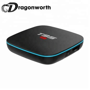 full hd mpeg4 set top box tiger receiver T95 R1 S905W 1G 8G motherboard set top box with android 7.1 smart tv box android