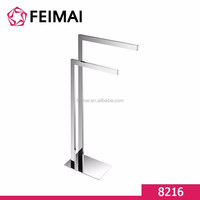 High Quality Free Standing Chrome Plated Paper Towel Holder Rack for Bathroom