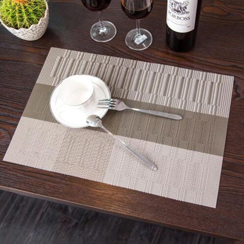 PVC Cucina Dinning Tavolo Di Bambù Tovagliette per la Tavola Stuoia ...