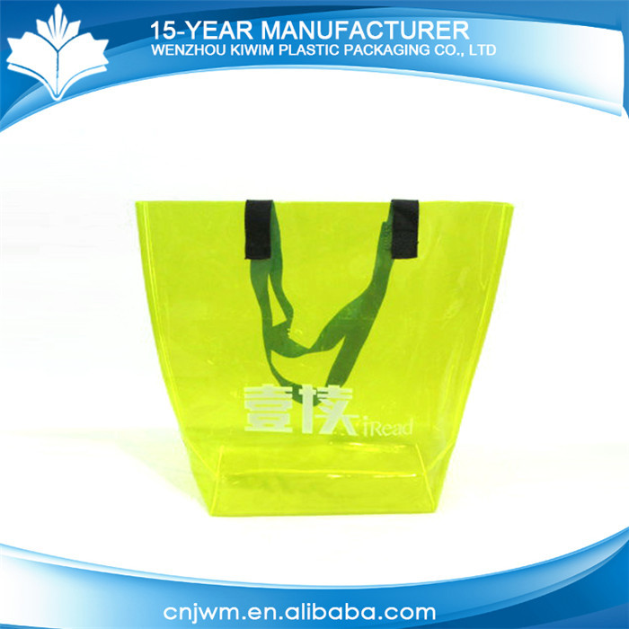 China supplier waterproof plastic clear pvc see through beach bags