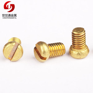 Round Pan Head Slotted Machine Small Micro M1 Brass Screw