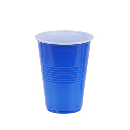 16oz disposable plastic blue solo party cup kitchware