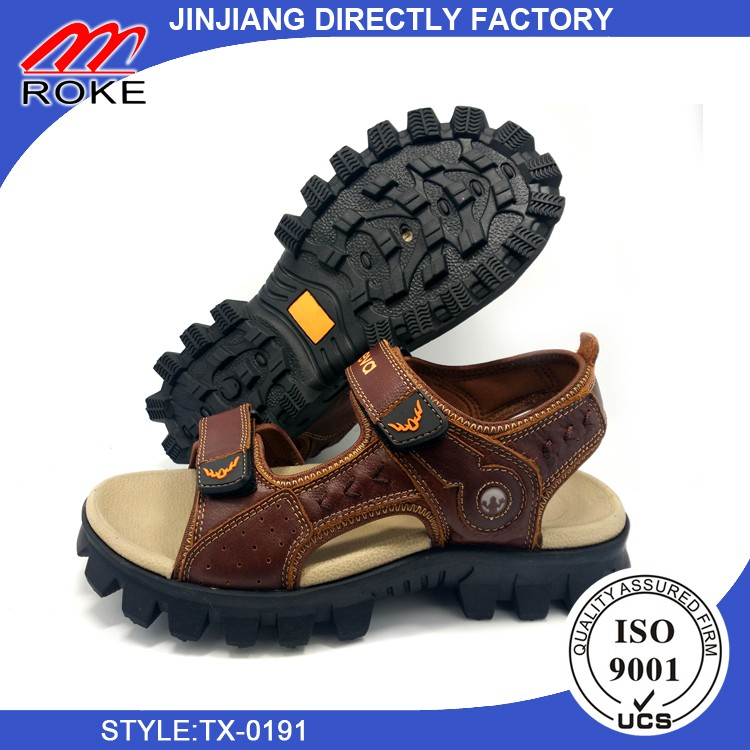 High Quality Leather Mens Sport Sandals Summer Open Toe Outdoor Beach Sandal Shoes