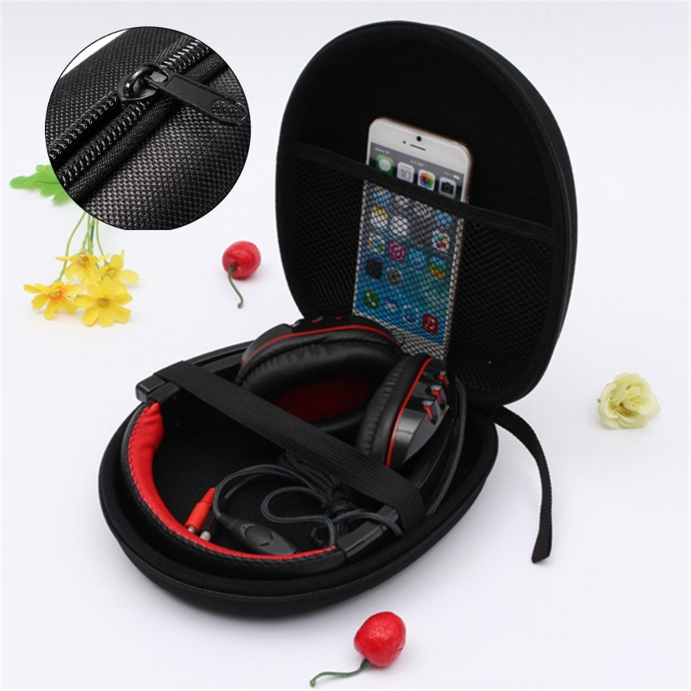 Hard EVA headset headphone storage organizer earphone carry case