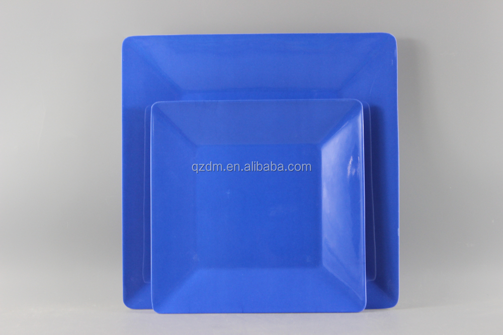 Blue Melamine Tableware Set8/10inch Melamine Square Plate Sets & Blue Melamine Tableware Set8/10inch Melamine Square Plate Sets ...
