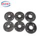 1/2 3/4 inch black cast iron pipe fittings floor flange for decoration 4 holes