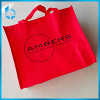big red non woven cloth shopping bags for wedding dress