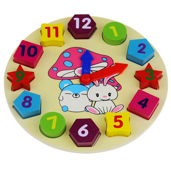 Amazon Wholesale Rabbit Digital Math clock educational wooden toys for <strong>kids</strong>