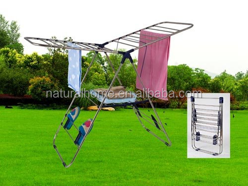 Outdoor space saver plastic hanger clothes folding drying rack best price Cloth Dryer