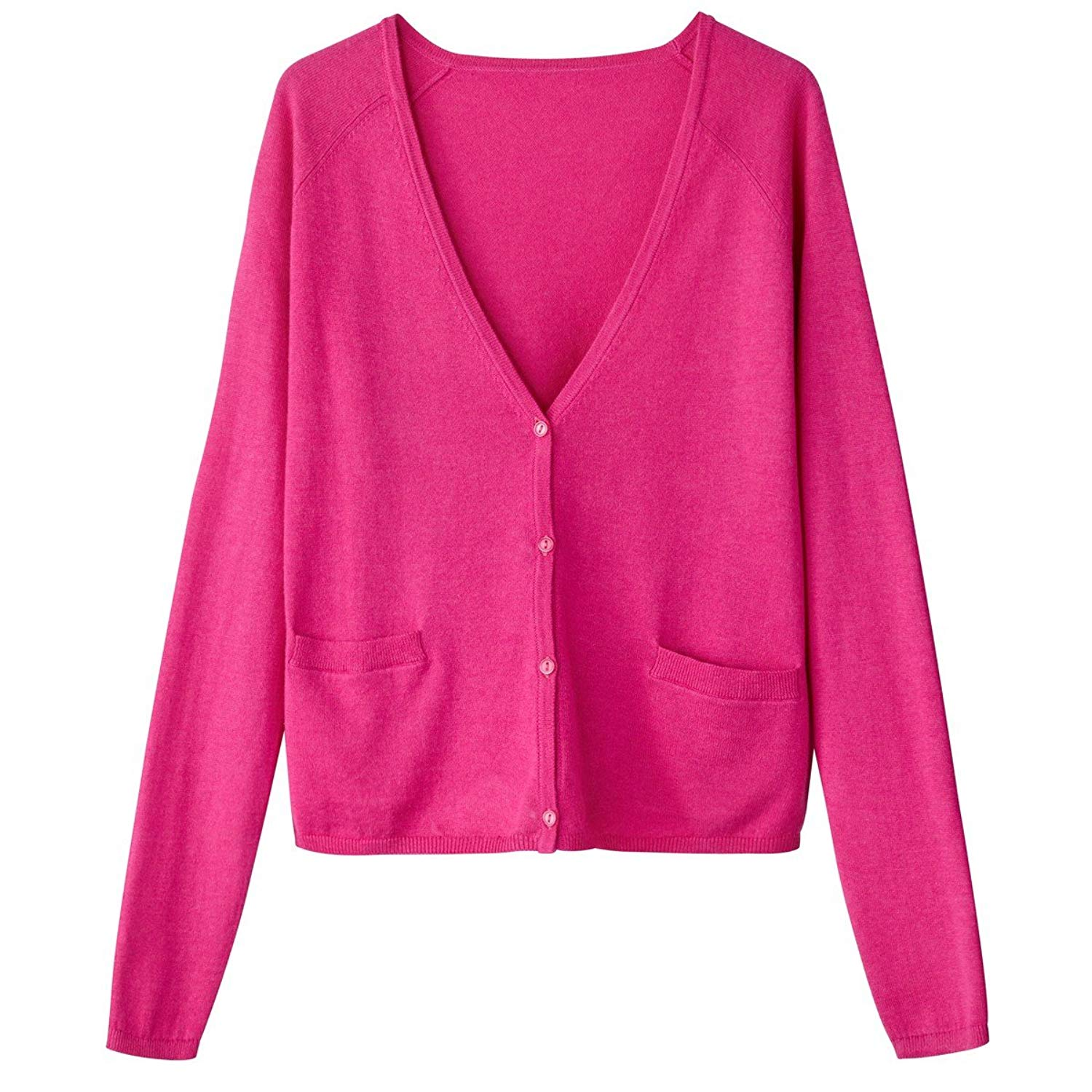 f34fdfa8a8 Get Quotations · La Redoute Collections Womens Cropped V-Neck Cardigan