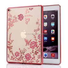 DongGuan factory Wholesale Electroplating TPU and Set with diamonds Back Cover Case for Ipad mini 1\2\3\4