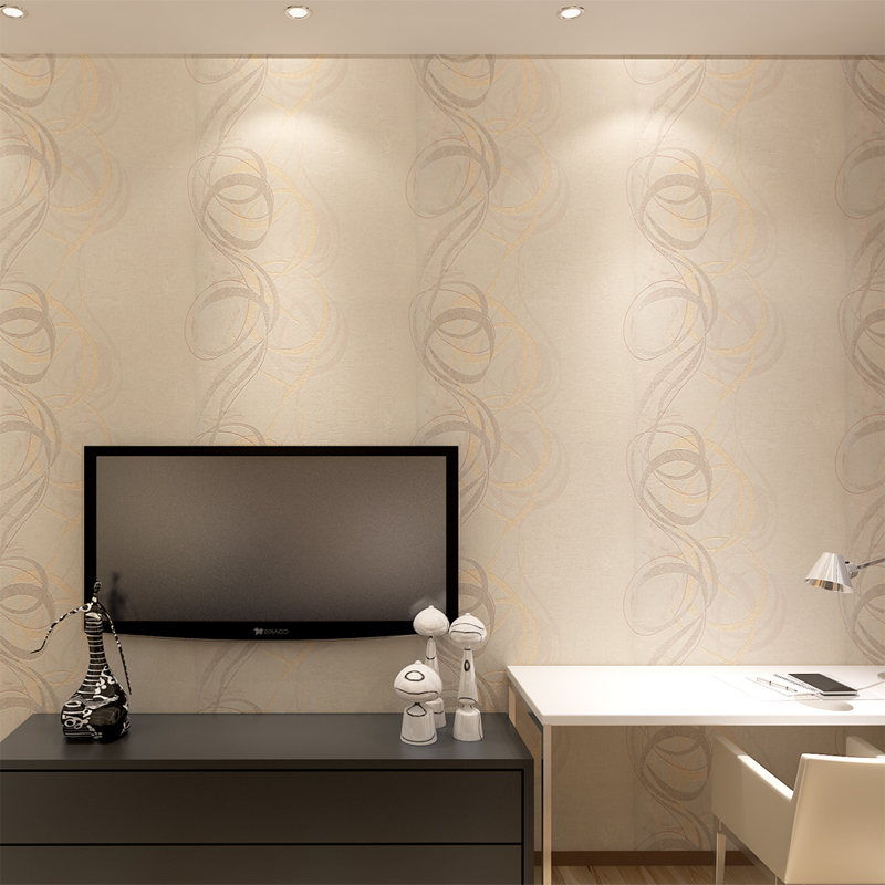 Good quality circle pattern hotel wall paper design