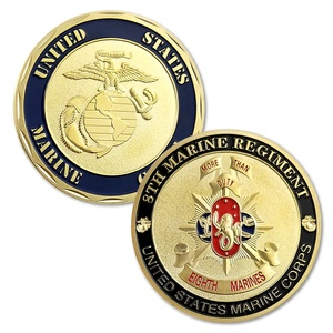 Personalized Design Gold Plating USMC 8TH Marine Regiment Honor Military Medal Coin