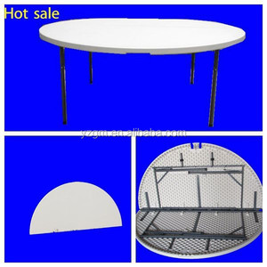 6 ft plastic folding round table, banquet folding table, dining table made in china supplier