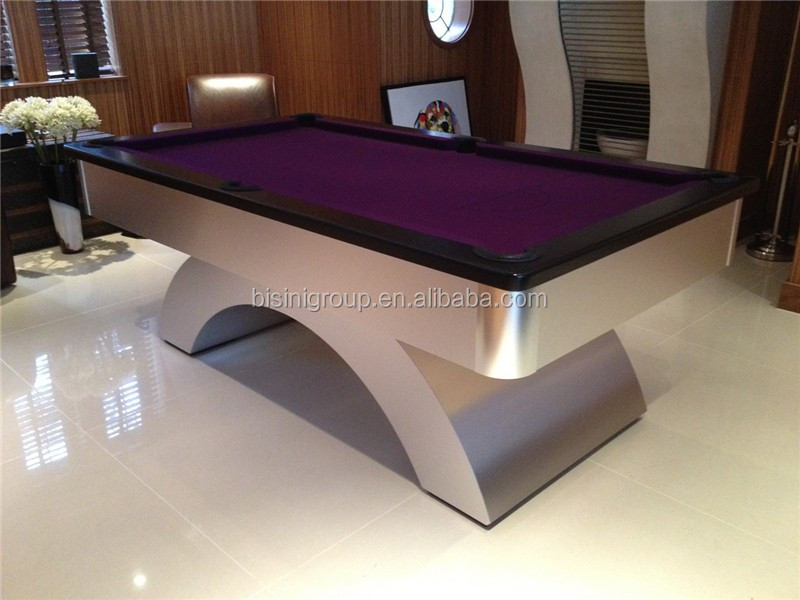 Clic Modern Design 7ft Brushed Finshed Rainbow Leg Billiard Table Pool Slate Price Product On