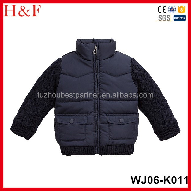 European Kids Clothing Wholesale Kids Winter Jacket Coat Baby Children's Wind Coat