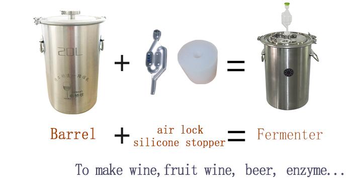 12L Rượu Chưng Cất Thiết Bị Mini Distillery Rượu Whisky Vodka Chưng Cất