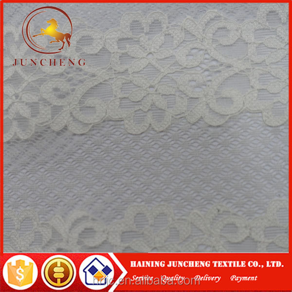 Pure white good quality new design white bridal lace fabric for garments