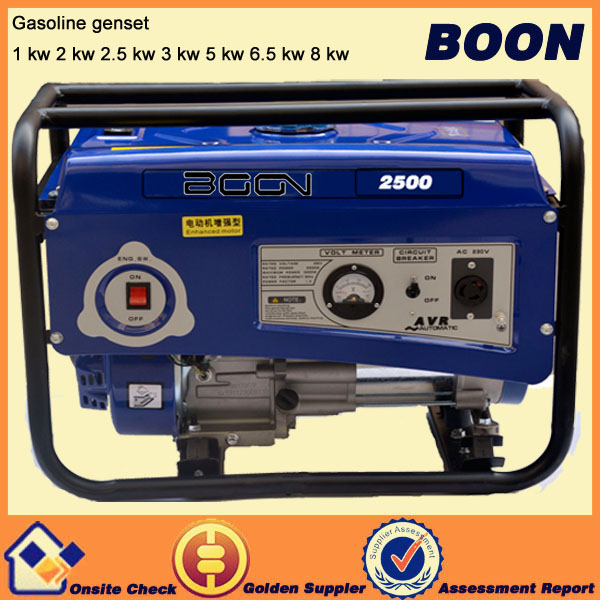 100% copper wire 5.5hp gasoline generator with good torque