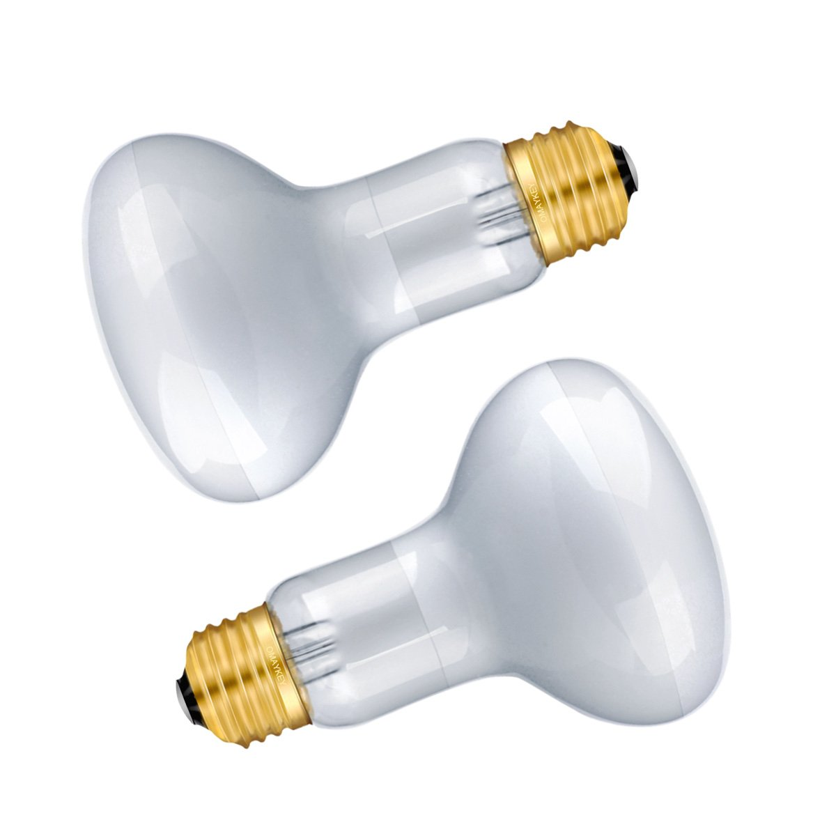 Get Quotations · OMAYKEY 2-pack 50W Basking Spot Heat Lamps Soft White Glow  UVA Glass Cover Heat bfd3504b652