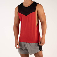 New Design Red Tank Top Quickly Dry Gym Tank Top Sleeveless Mens Workout Tank Top